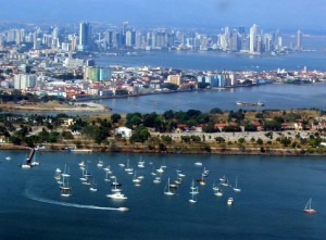 Panama city from the sky